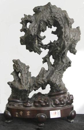 Chinese cast iron scholar's stone