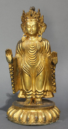 Tibetan bronze figure of Bodhisattva