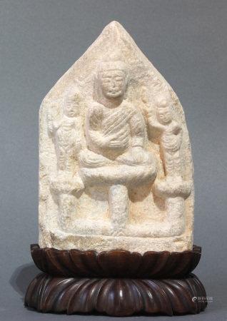 Chinese stone Buddhist stele