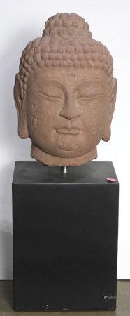 Southeast Asian stone head of Buddha