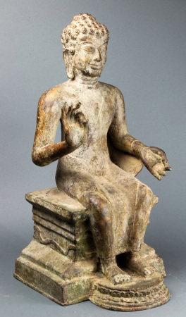 Burmese cast iron figure