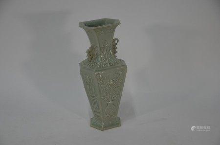 A 20th century Chinese celadon glazed vase