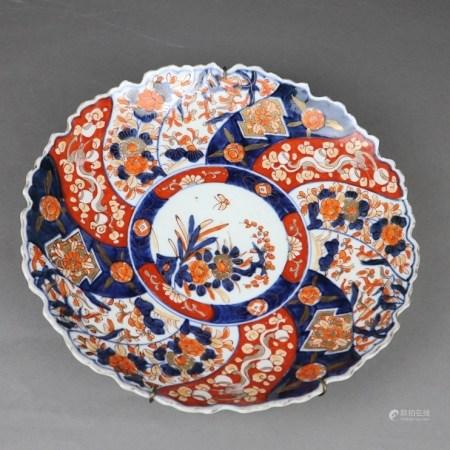 "Imari-Teller - Japan, Meiji-Zeit, schwerer Porzellanscherben mit gemaltem ""Imari""-Dekor in"
