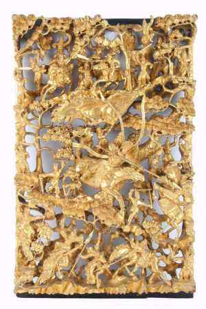 Holz Wandrelief, China, chinese wooden relief,