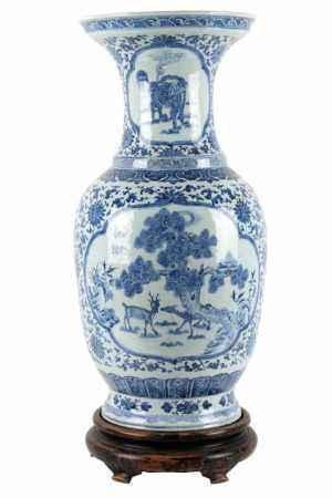 Große Bodenvase, China Mitte 20. Jahrhundert,