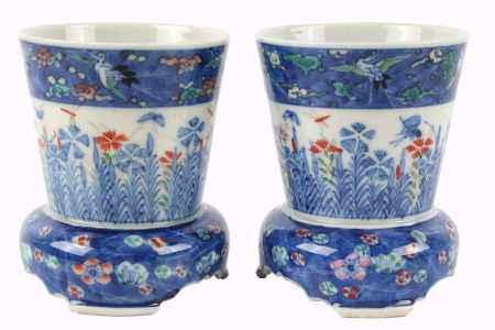 Vasenpaar, Japan Seto, pair of vases,