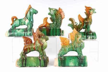 5 Giebelfiguren, China, gable figures,