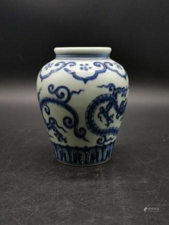 Chinese Blue and White Porcelain Vase,Mark