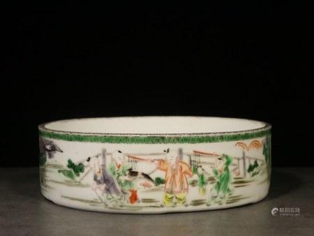 Republican Chinese Doucai Porcelain Washer
