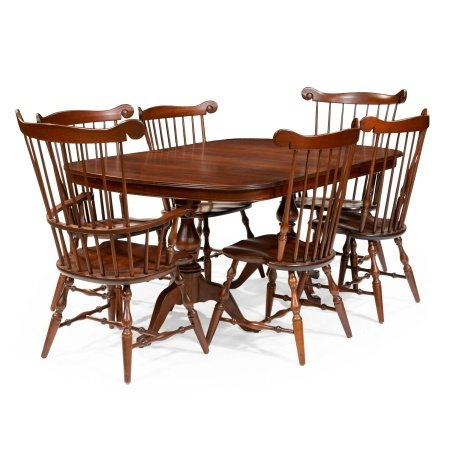 Cherry Table and Windsor Chairs