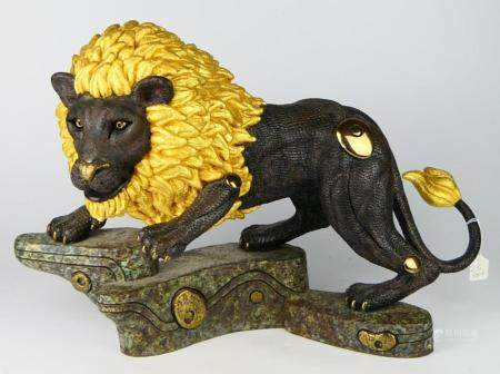 TIEFENG JIANG (B.1938) ORIGINAL CAST BRONZE LION