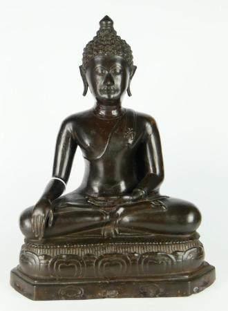 THAI BRONZE 20TH CENTURY BUDDAH