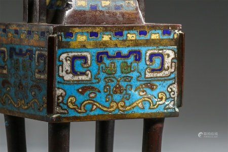 A Chinese Cloisonne Incense Burner
