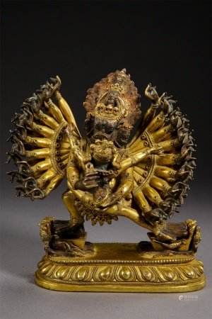 A Chinese Gilt Bronze Figure of Buddha