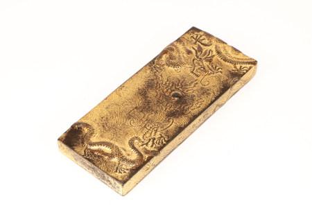 GOLD GILT DRAGON INK
