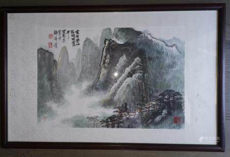 CHINESE LANDSCAPE PAINTING SIGNED BY ARTIST LI KERAN