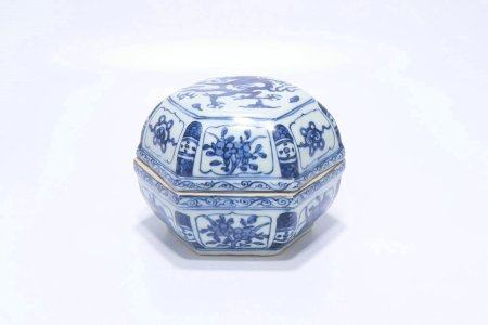 Blue And White Porcelain Box,Ming Dynasty