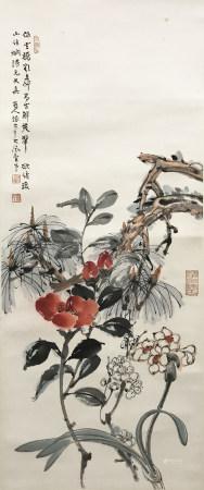 張大千 花卉