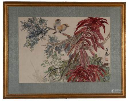 Chinese Painting of Birds by Wang Yachen