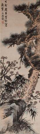 Chinese Painting of Suihan Sanyou by Xiao Qian