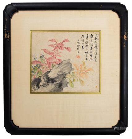 Chinese Painting of Flowers by Zhang Xiong