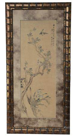 Chinese Painting of Flowers and Birds by Weng Luo