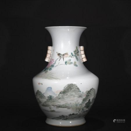 Qing Dynasty light purple color tin