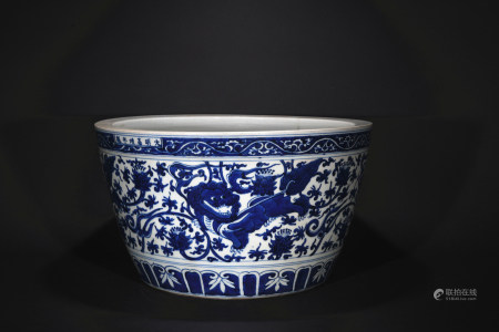 Ming Dynasty blue and white fish tank