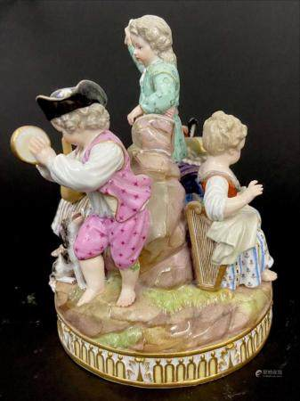 19TH C. MEISSEN MUSICAL GROUP
