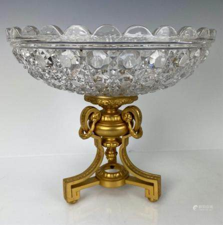 GILT BRONZE AND BACCARAT CRYSTAL CENTERPIECE