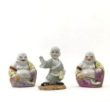 Lot of 3 Religous Porcelain Figures (BUDDHA)