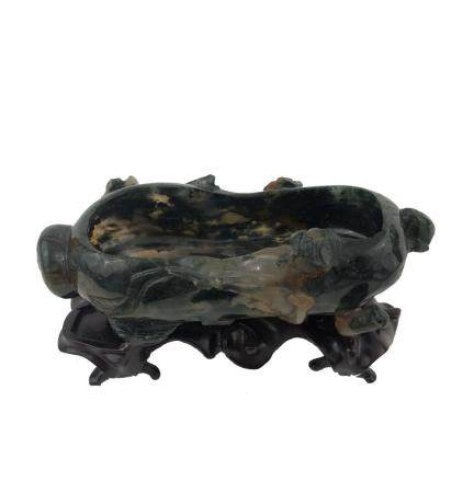 Antique Chinese Hand Carved Ashtray