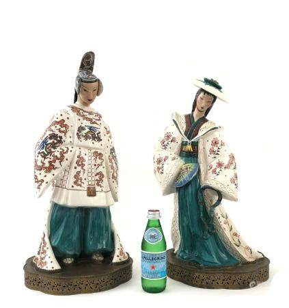 Pair of Large Chinese Porcelain Figures