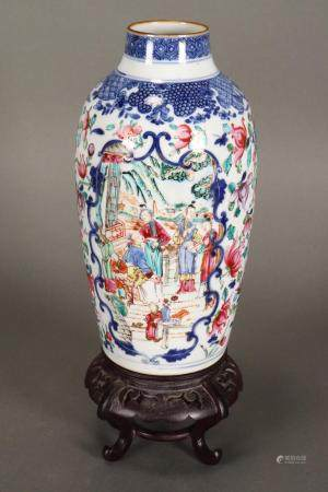 Chinese Qing Dynasty Famille Rose Vase,