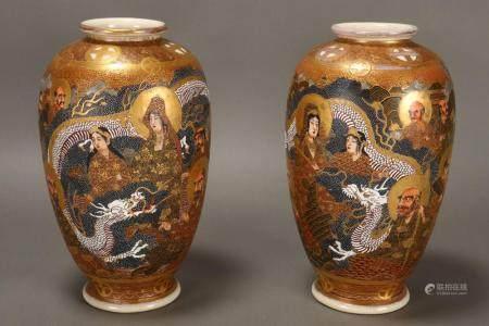 Good Pair of Satsuma Vases,