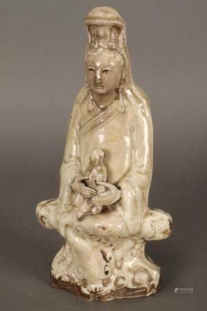 Good Ming/Qing Dynasty Figure of Kwan Yin,