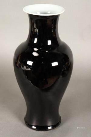 Chinese Kangxi Period Mirror Black Porcelain Vase,