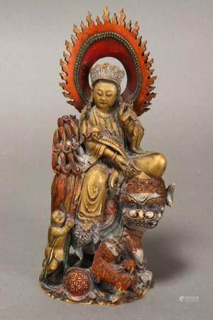 Late 19th Century Sino-Tibetan Ivory Figure Group,