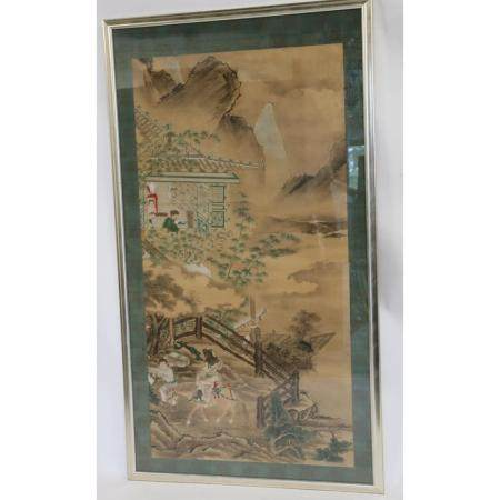 Large Unsigned Chinese Watercolor Painting