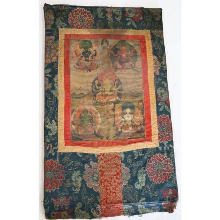 Antique Chinese Tibet Hand Painted Thangka