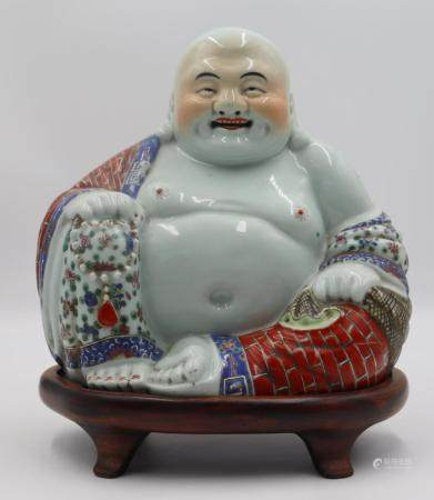 Antique Chinese Famille Porcelain Smiling
