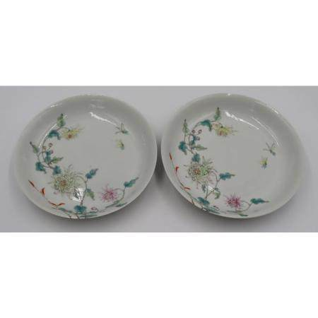 Pair of Chinese Famille Rose Bowls.