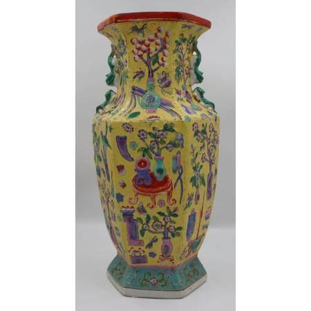 Chinese Enamel Decorated Vase.