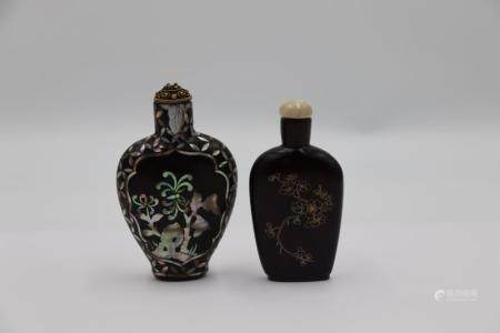 (2) Chinese Snuff Bottles.