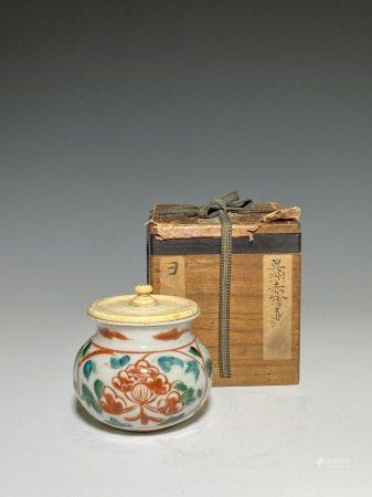 南京呉須赤繪茶器