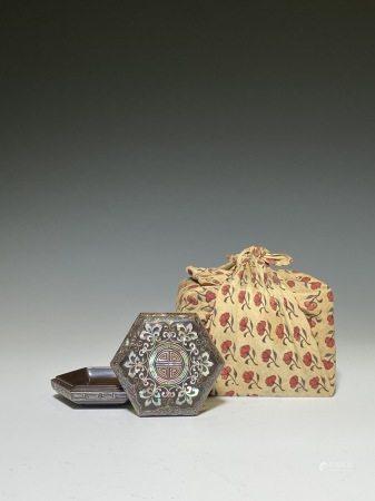 螺鈿六角香盒