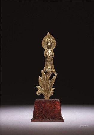北齊 銅鎏金菩薩立像