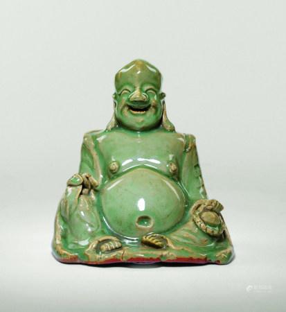 明 龍泉青瓷彌勒佛座像