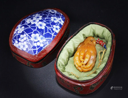 A Chinese Tianhuang Pendant