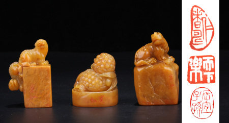 A Box of Chinese Tianhuang Seals